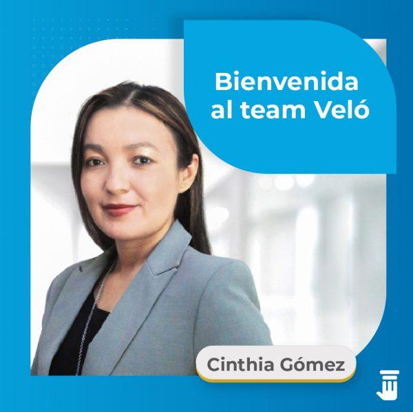 Cinthia Gómez abogada Veló Legal, Bienvenida Cinthia Gómez